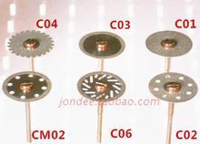 12 pièces disque de coupe diamant Double face Ultra mince dentaire pour séparer le plâtre de couronne en céramique de polissage ou le jade