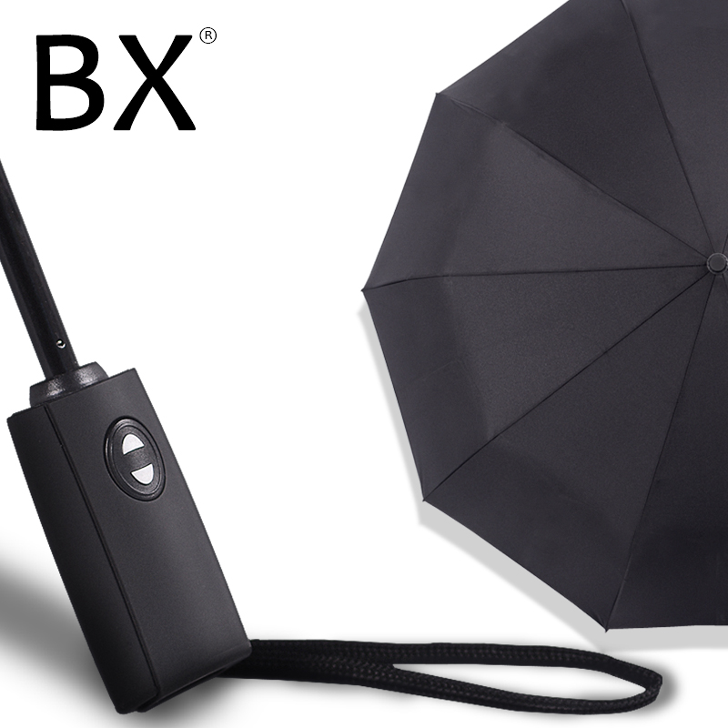 Bachon 125cm Large Umbrella Men Women Rain Windproof Fully Automatic Portable Folding