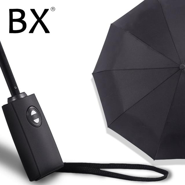 Bachon 125 см большой зонт для мужчин и женщин защита от дождя и ветра зонт полностью автоматический складной зонт для женщин мужской