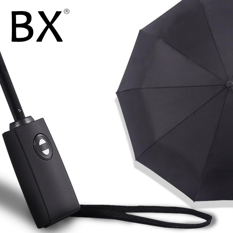 Bachon 125CM large umbrella men women rain windproof umbrella fully automatic font b portable b font