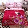 Dos desenhos animados 4 pcs bedding set borboleta menina crianças crianças consolador lençol capa de edredão bedding define housse de couette