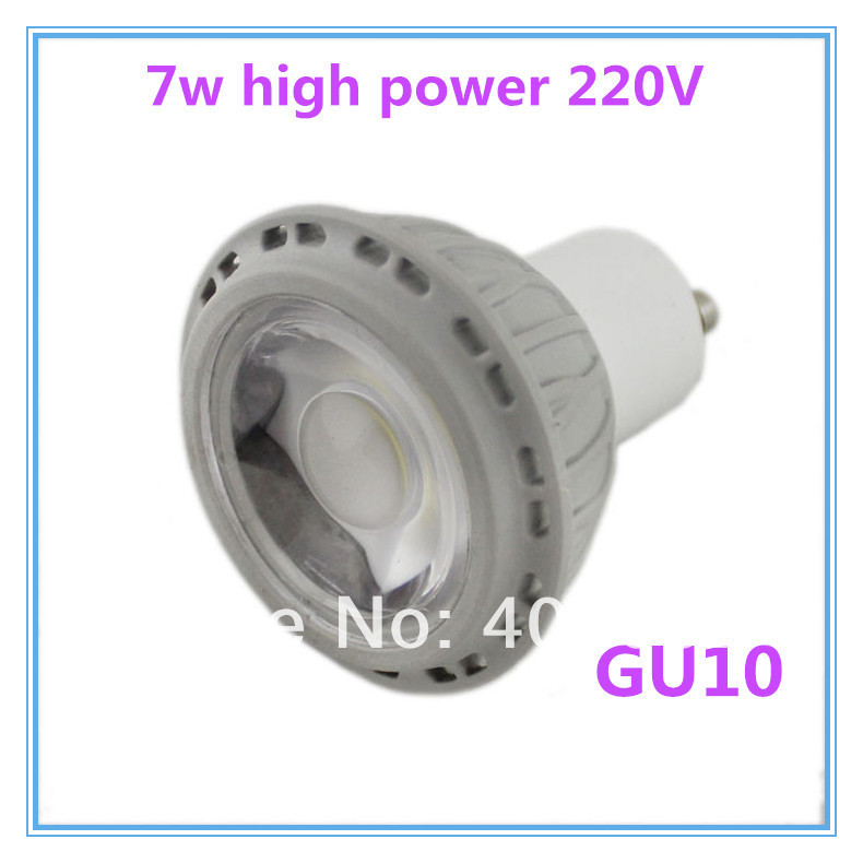 10pcs/lot led gu10 cob light GU 10 led Spotlight lamp 220v -240v White/Warm white led lighting