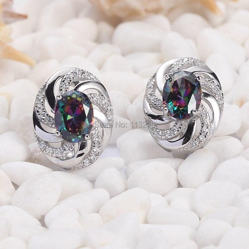 e3b607489fc Eulonvan Rainbow Mystic cubic zirconia joyería de moda Plata de Ley 925  pendiente étnico S-3732 Berserk tiempo limitado descuento
