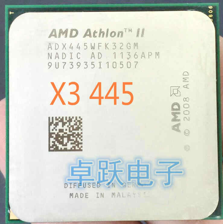 AMD Athlon II X3 445 processor 3.1GHz 1.5MB L2 Cache Socket AM3 Triple-Core scattered pieces cpu free shipping