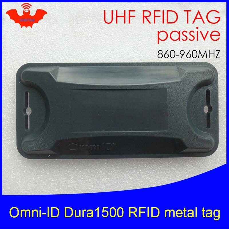 UHF RFID Anti-metal Tag Omni-ID Dura 1500 Dura1500 915mhz 868m Alien Higgs3 EPCC1G2 6C Durable ABS Smart Card Passive RFID Tags