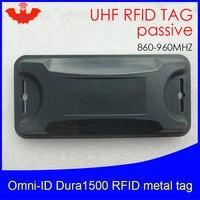 Uhf rfid anti-metal tag omni-id dura 1500 dura1500 915mhz 868m estrangeiro higgs3 epcc1g2 6c abs durável cartão inteligente tags passivas rfid