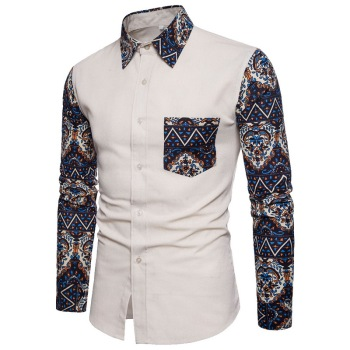 Fashion Men's Cotton Slim Shirt 1