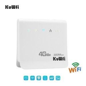 Image 2 - Desbloqueado 300mbps wifi roteador 4g lte cpe roteador móvel sem fio com lan porta sim cartão solt