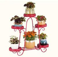 European style balcony ground showy multilayer shelf, wrought iron flower pot restoring ancient ways, frame