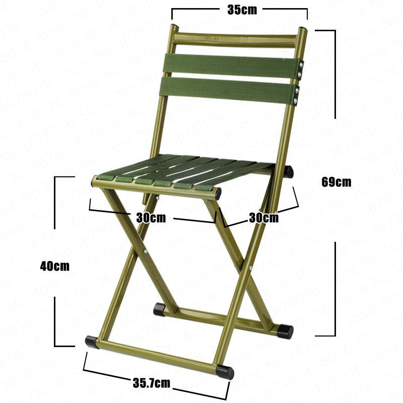 Thick Folding Stool Adult Small Horse Stool Stool Small Chair Portable Folding Chair Mazar Outdoor Fishing Chair