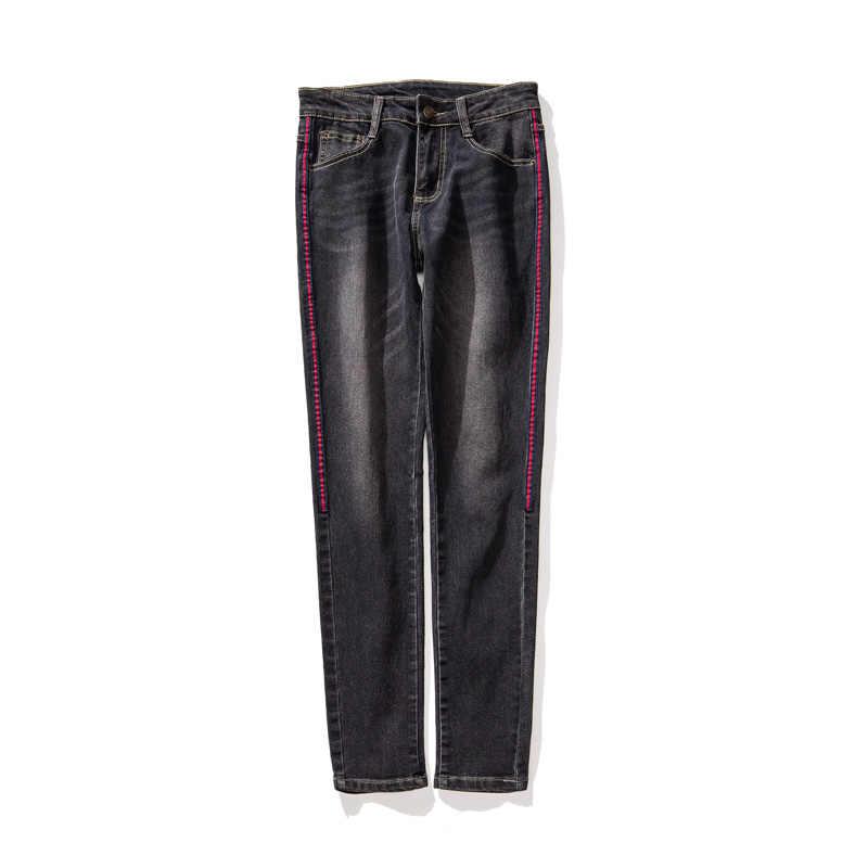 Одежда Джинсы брюки для женщин одежда уличные брюки галстук краситель деним длинные вымытые джинсовые брюки новое поступление джинсы