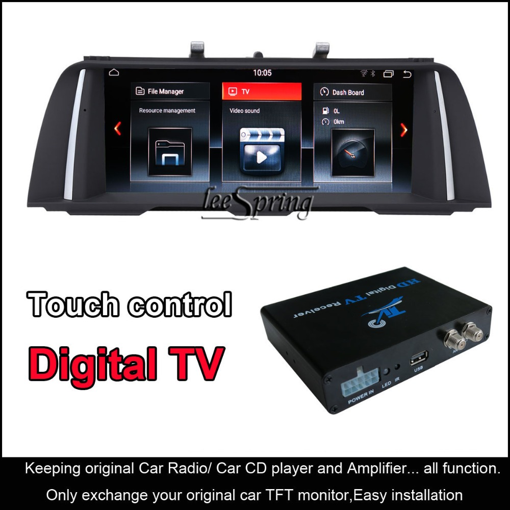10.25 Android Smart Voiture navigation gps pour BMW 5 série F10/F11 (2011-2012) avec tv numérique