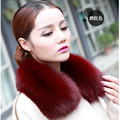 Real Fox Fur Collar Women 100% Natural Fox Fur Scarf Winter Warm Natual Fur Collar for Women  Coat Detachable Scarves C#27