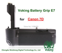 Free shipping  Retail/Wholesale Voking New camera battery grip Holder Pack VK-E7 for Canon 7D