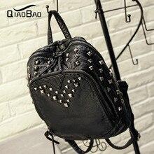 QIAOBAO Высокое качество Leahter рюкзак школьный дорожная сумка рюкзак женщин известных брендов рюкзак bolsos mujer старинные рюкзаки