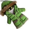 WEONEWORLD Invierno de Los Nuevos Niños Abajo Chaqueta Gruesa Boy Abrigo de Invierno Pato Abajo Niños Chaquetas de Invierno para Niño Prendas de abrigo de Pieles Collar