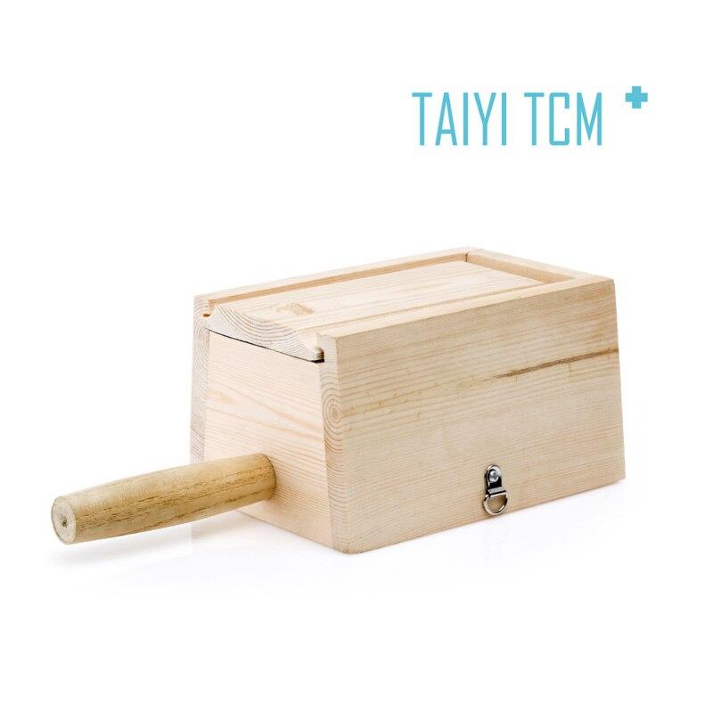 ФОТО Pure ridel box Medium wooden moxa box wooden box wood moxa box