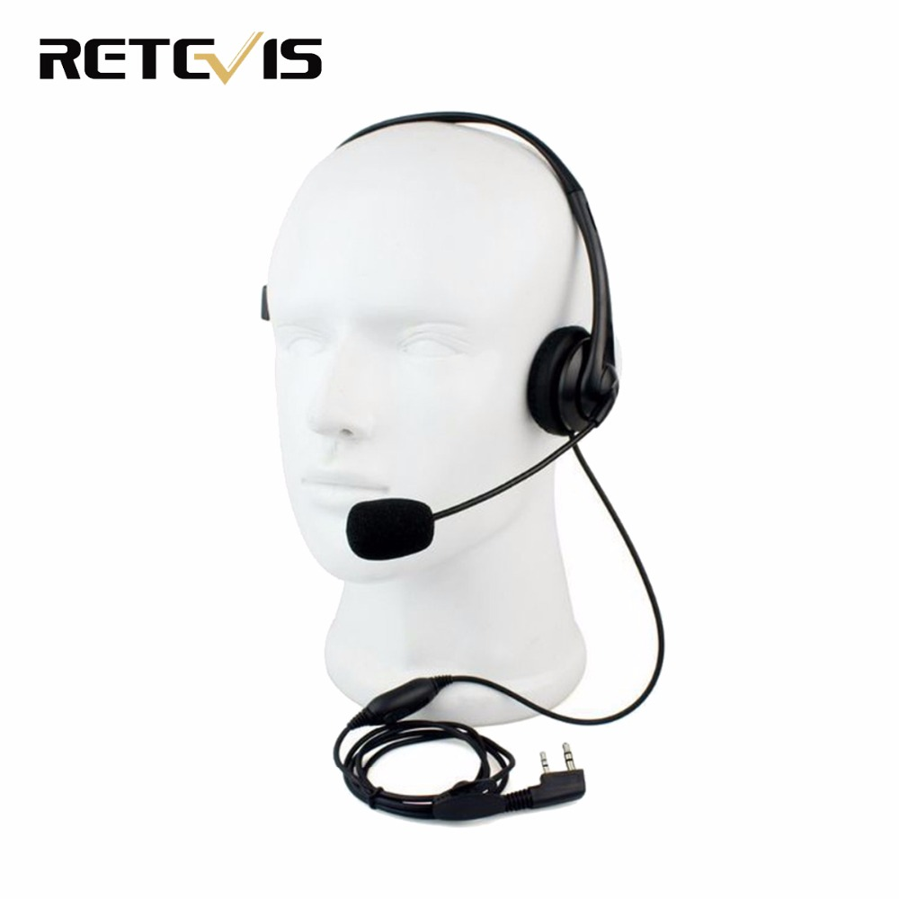 Retevis 2 Pin Kopfhörer Headset Mic TK220 Für KENWOOD Baofeng UV-5R BF-888S Retevis H777 PUXING TYT Funksprechgerät C9009A