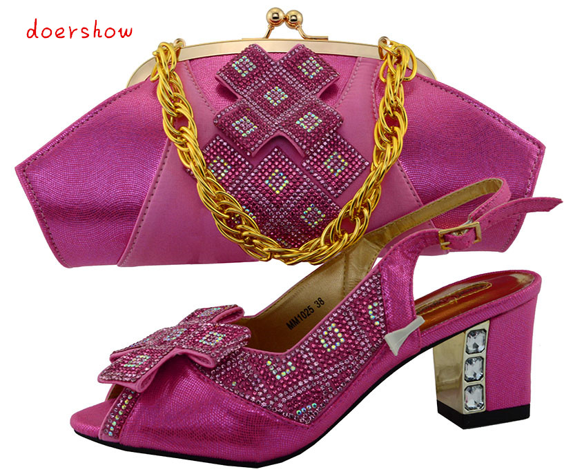 doershow Italy Shoe and Bag Set Italian Matching Shoes and Bag Set for Wedding African Women Shoe and Bag To Match  PUW1-43 машинка для стрижки remington ne3750