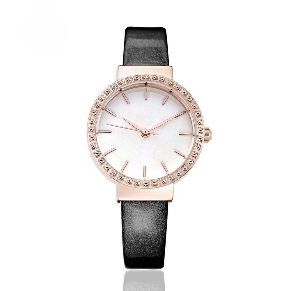 Di modo delle donne di marca di orologi cinturino in pelle casual della signora orologi da polsoDi modo delle donne di marca di orologi cinturino in pelle casual della signora orologi da polso