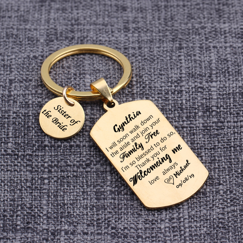 Sister Keyring Keepsake Gift boxed with message and charms