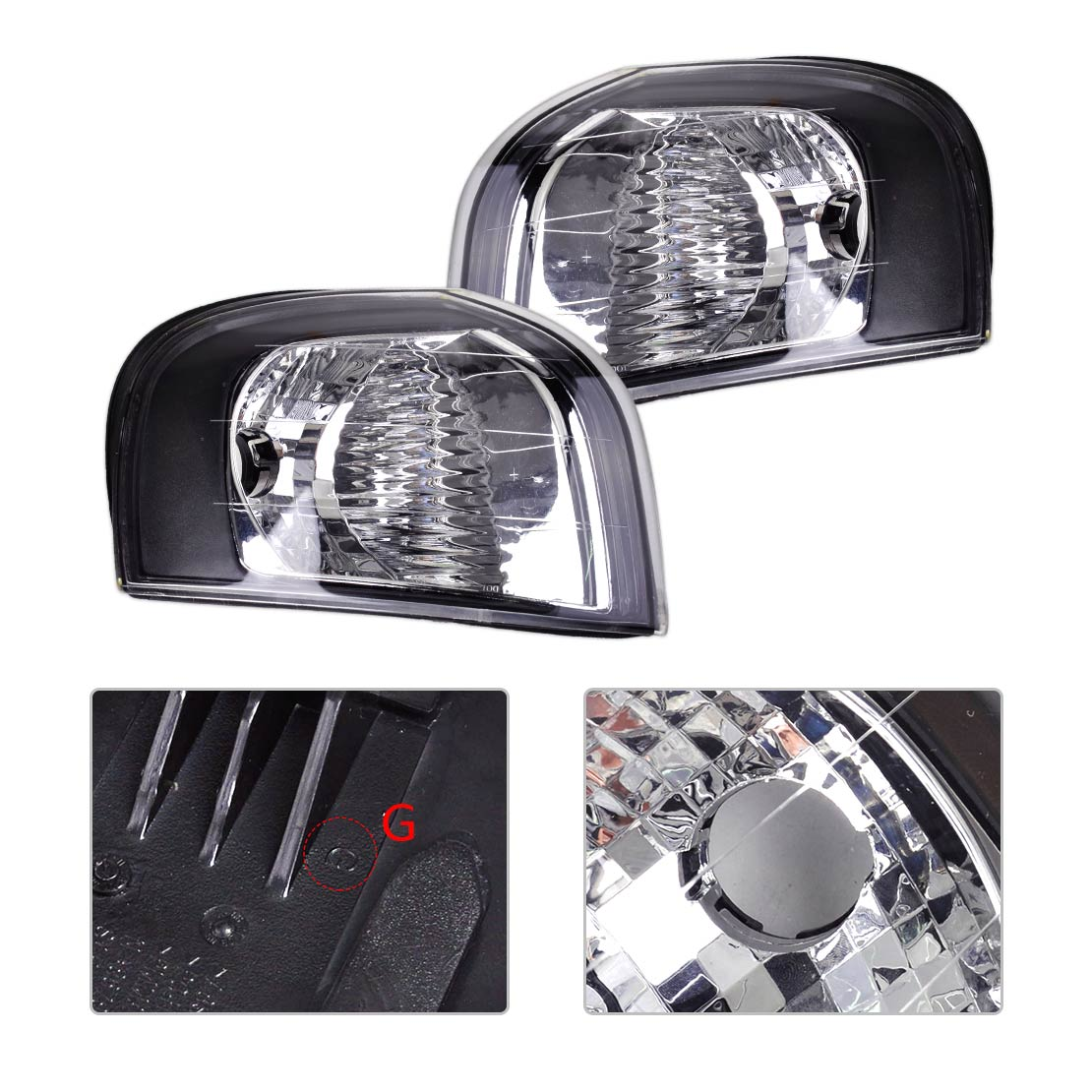 beler 2pcs Left & Right Turn Signal Corner Light Lamp for Volvo S80 1999 2000 2001 2002 2003 2004 2005 2006 30655422 30655423 jeazea glove box light storage compartment lamp 1j0947301 1j0 947 301 for vw jetta golf bora octavia 2000 2001 2002 2003 2004