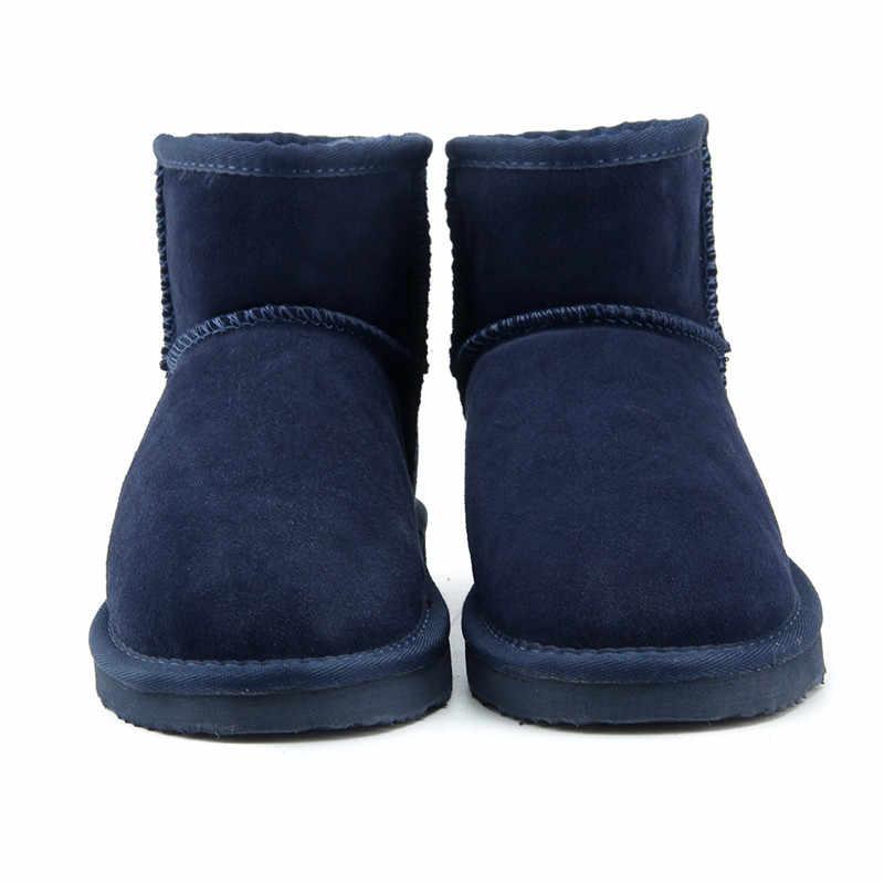 JXANG แบรนด์ร้อนขายผู้หญิงหิมะรองเท้าบูท 100% ของแท้ Cowhide หนังข้อเท้ารองเท้าอุ่นฤดูหนาวรองเท้าผู้หญิงรองเท้า 23 สี