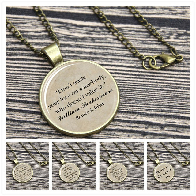 Shakespeare Romeo Juliet Quote Necklace Keyring Twelth Night You Extraordinary Romeo And Juliet Quotes About Love