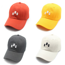 купить Embroidery ABC Letter Baseball Cap High Quality Cotton Kpop Dancing Sport Hats Dad Hat Men Women Adjustable Hiphop Snapback Cap дешево