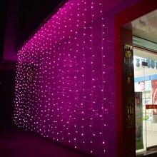 Рождественский светильник 3 м X 3 м 300led AC220V/110 V Праздник Светодиодный светильник ing украшения садовых светильник Свадебная вечеринка сосулька