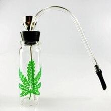 SWSMOK Glass Popular Bottle Water Pipe Portable Mini Hookah Shisha Tobacco Smoking Pipes For Smoking Weed Metal Tube Filter