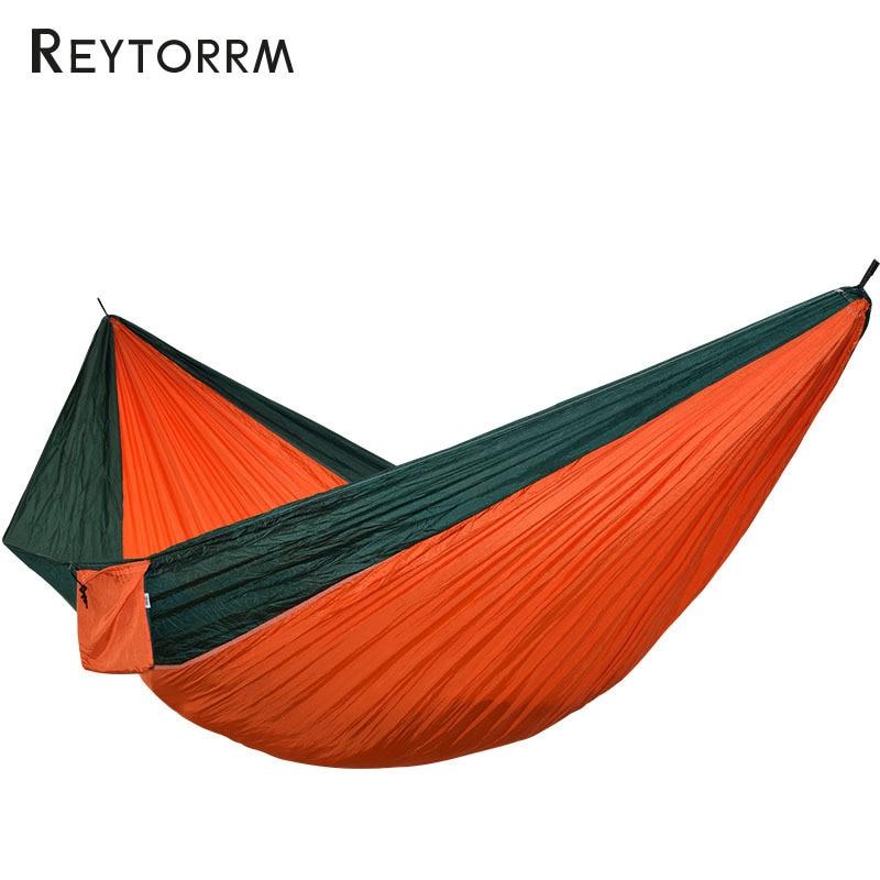 2 3 Person King Size Hammock Outdoor Survival Camping Hamak Leisure Patio Garden Terrace Double Hamaca 300*200cm 118*78 Inch-in Hammocks from Furniture
