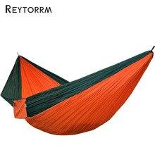 2 3 osoby duży rozmiar Hamak Outdoor Survival Camping Hamak wypoczynek Patio ogród taras podwójny Hamaca 300*200cm 118*78 Cal