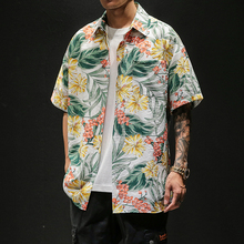 Summer Printing Mens Shirts Casual Hawaiian Men Shirt Large Sizes M-5XL Short Sleeve