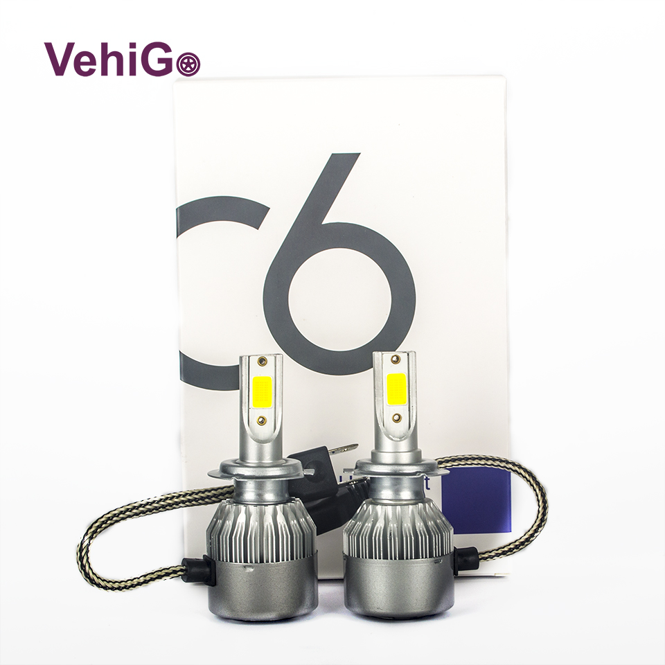 VehiGo C6 H7 Car LED bulbs H1 H3 H4 H7 H11 880 881 9004 9005 9006 9007 9012 5202 car LED Headlight bulbs 3000K 6000K Fog Light vehigo c6 h7 car led bulbs h1 h3 h4 h7 h11 880 881 9004 9005 9006 9007 9012 5202 car led headlight bulbs 3000k 6000k fog light