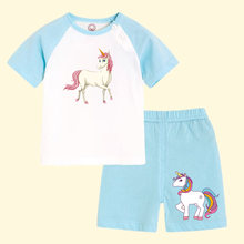 Cartoon Unicorn Patches For Children Clothes DIY T-shirt and Children Girl Clothing Stickers New Design Gift For Kids(China)