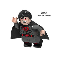 Single Sale Super Heroes Star Wars red son superman 003 Model Building Blocks Figure Bricks Toys gift(China)