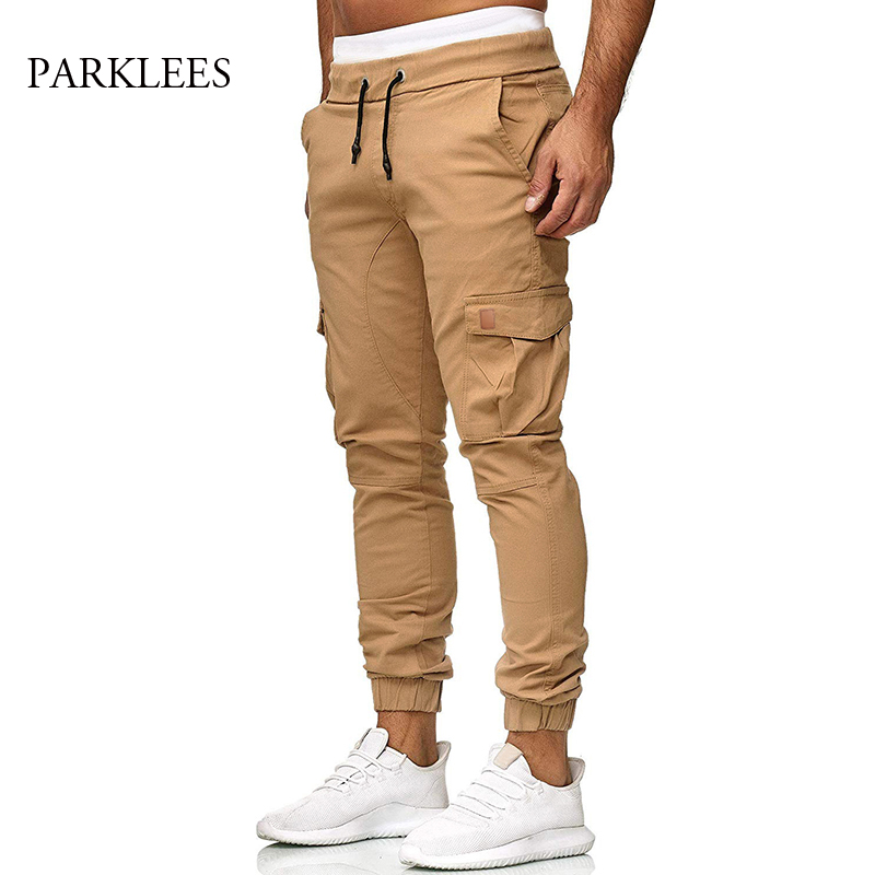 Men's Tactical Leggings Cargo Pants Brand Solid Multi-pockets Cotton Trousers For Male Spring Autumn Casual Sport Pantalon Homme