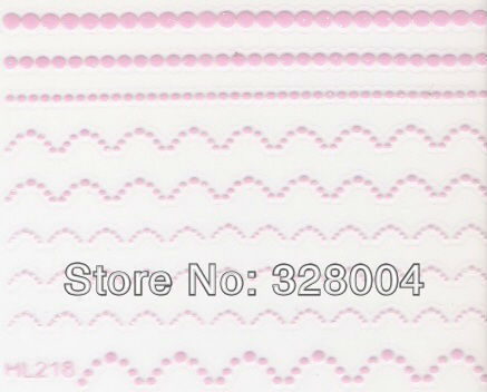 Finger applique nail art watermark stickers water transfer printing applique pink decal c series HL218-HL206