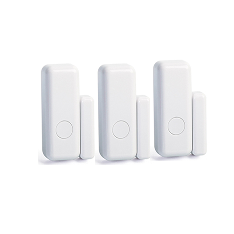 3pcs hot selling mini door sensor window magnetic contact detector for 433MHz WIFI GSM PSTN Anti-theft Alarm Security Systems wireless window door sensor magnetic contact w emergency button 433mhz ev1527 pt2262 door window detector anti thief home alarm