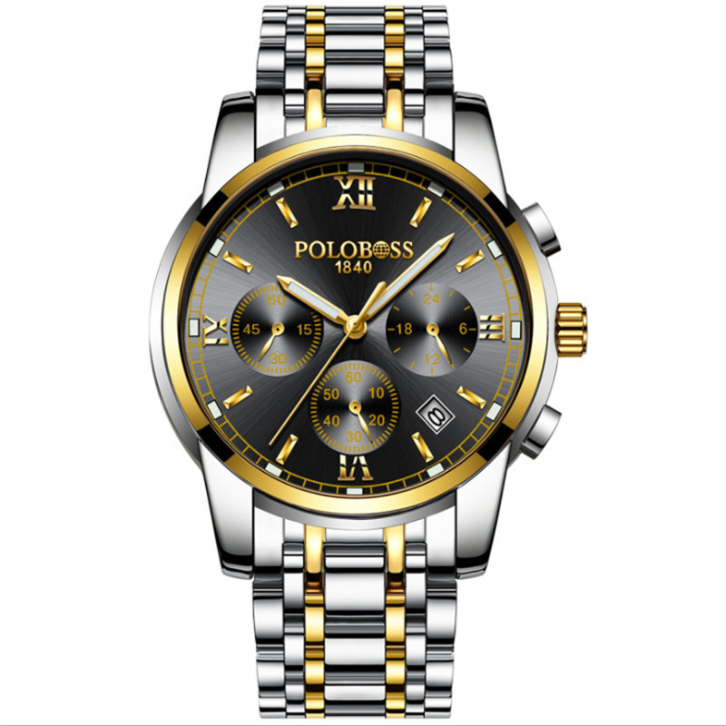 Watch men's mechanical watch fully automatic waterproof and hollowed-out precision steel band fashionable 2018 new boy men's wat seasonal 3152323 hollowed out pocket watch