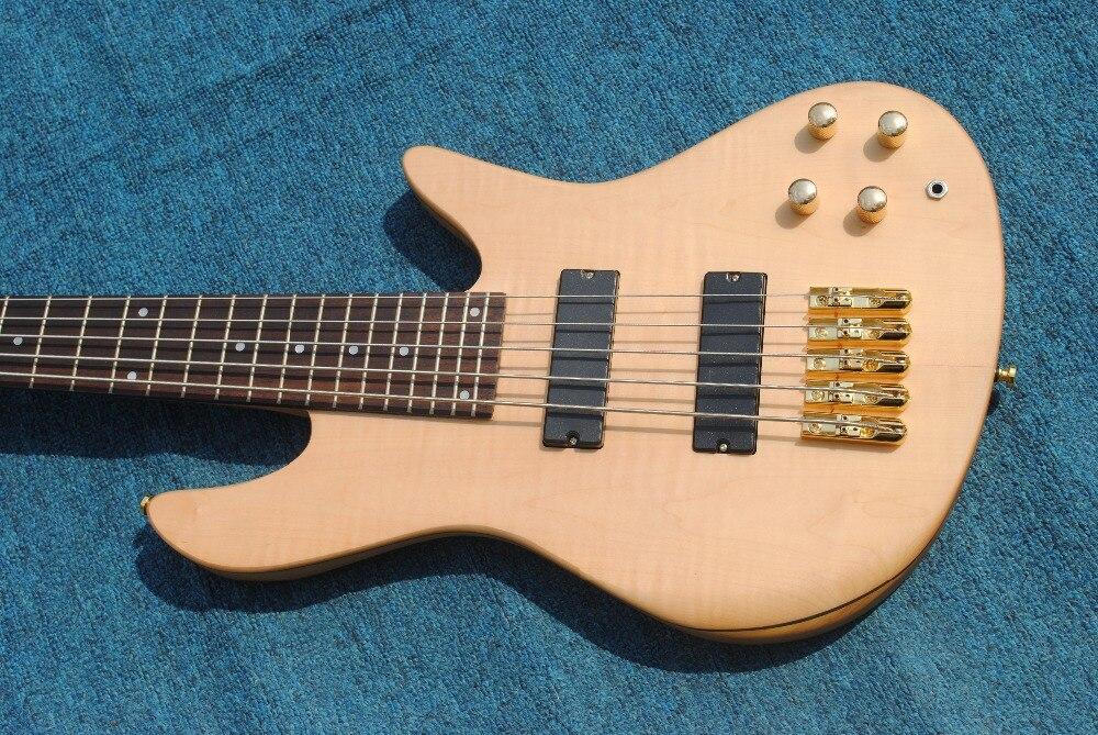 Vicers Ustom chine bricolage boutique guitare cordes palissandre touche 5 cordes basse papillon guitare usine chine gauche
