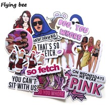 Flyingbee 27 PCS Mean Girls Movie Stickers Scrapbooking Sticker for DIY Travel case Laptop Bicycle Fridge Car Stickers X0221(China)