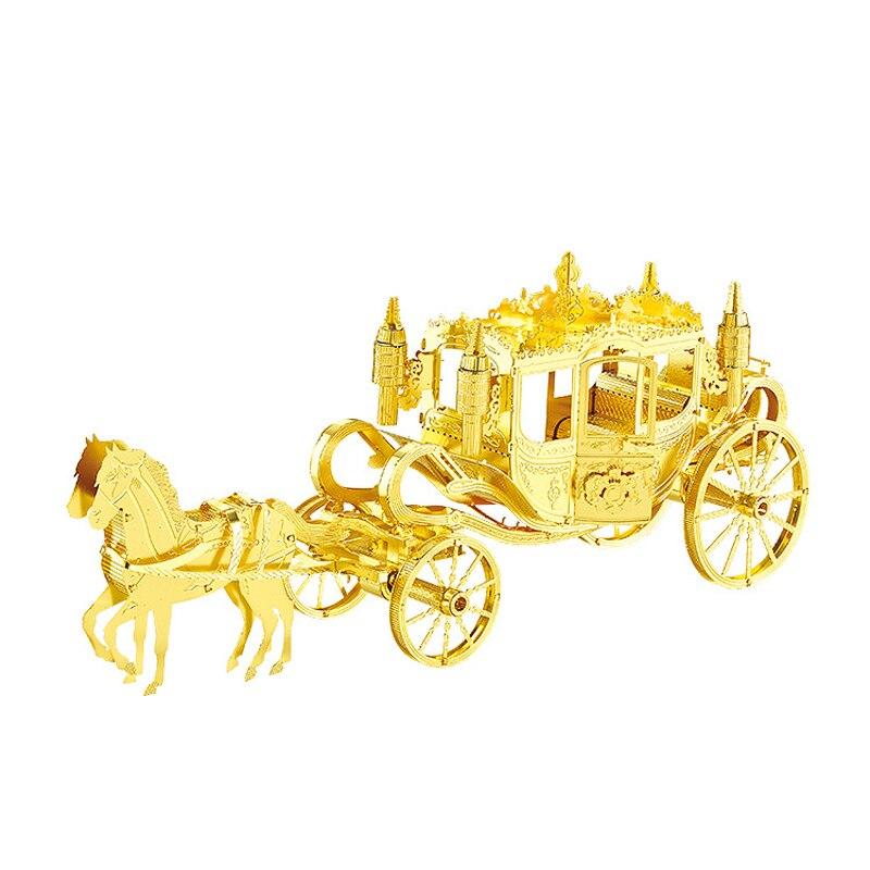 Nanyuan 3D Metal Puzzle Royal Transport Modelul vehiculului DIY Laser - Jocuri și puzzle-uri