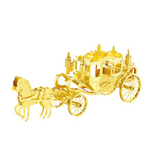 Nanyuan 3D Metal Puzzle Royal Carriage Vehicle Model DIY Laser Cut Montar Jigsaw Toys decoración de Escritorio REGALO para la Auditoría