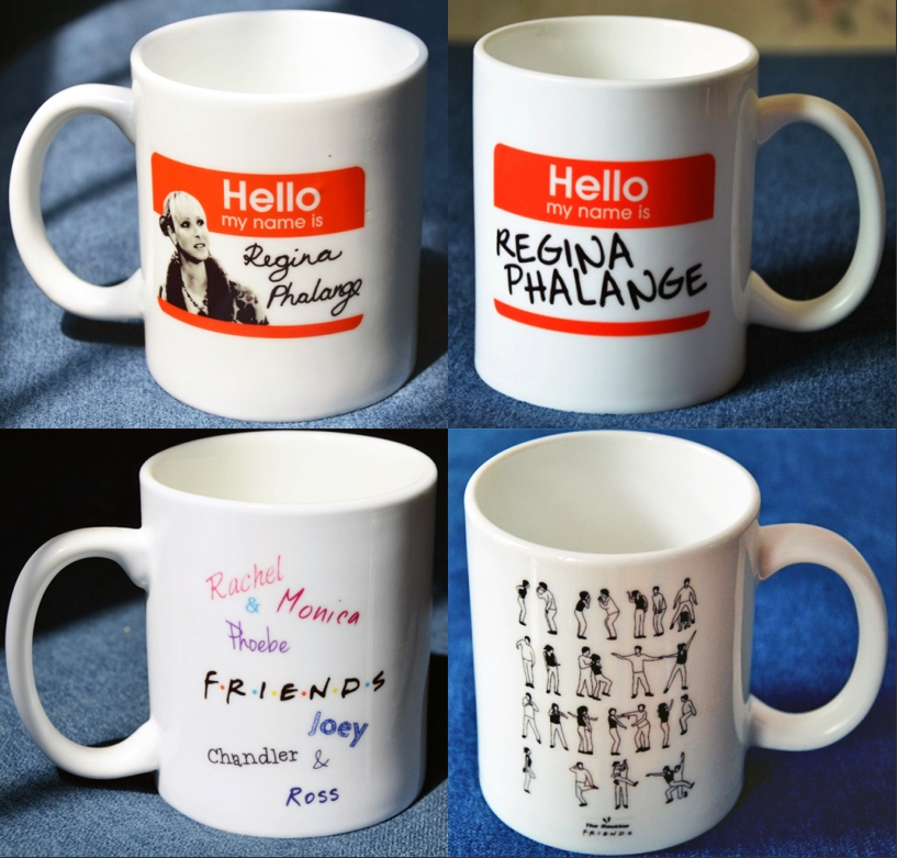 FRIENDS TV Series Phoebe Letters Coffee Milk Tea Mugs Lovers White Ceramic Cartoon Mug Comic Cups Home Decor Collection Gift