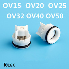TULEX 15MM-50MM Water Check Valve Non Return Shower Head Connector Valve Bathroom Accessory One Way Water Control OV15-50