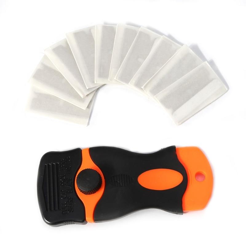 Car Sticker Remover Edge Blade Razor Scraper Set Plastic Window Spatula Tool CA