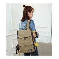 Canvas Backpack Women Men Large Capacity Laptop Backpack Student School Bags For Teenagers Travel Backpacks Mochila