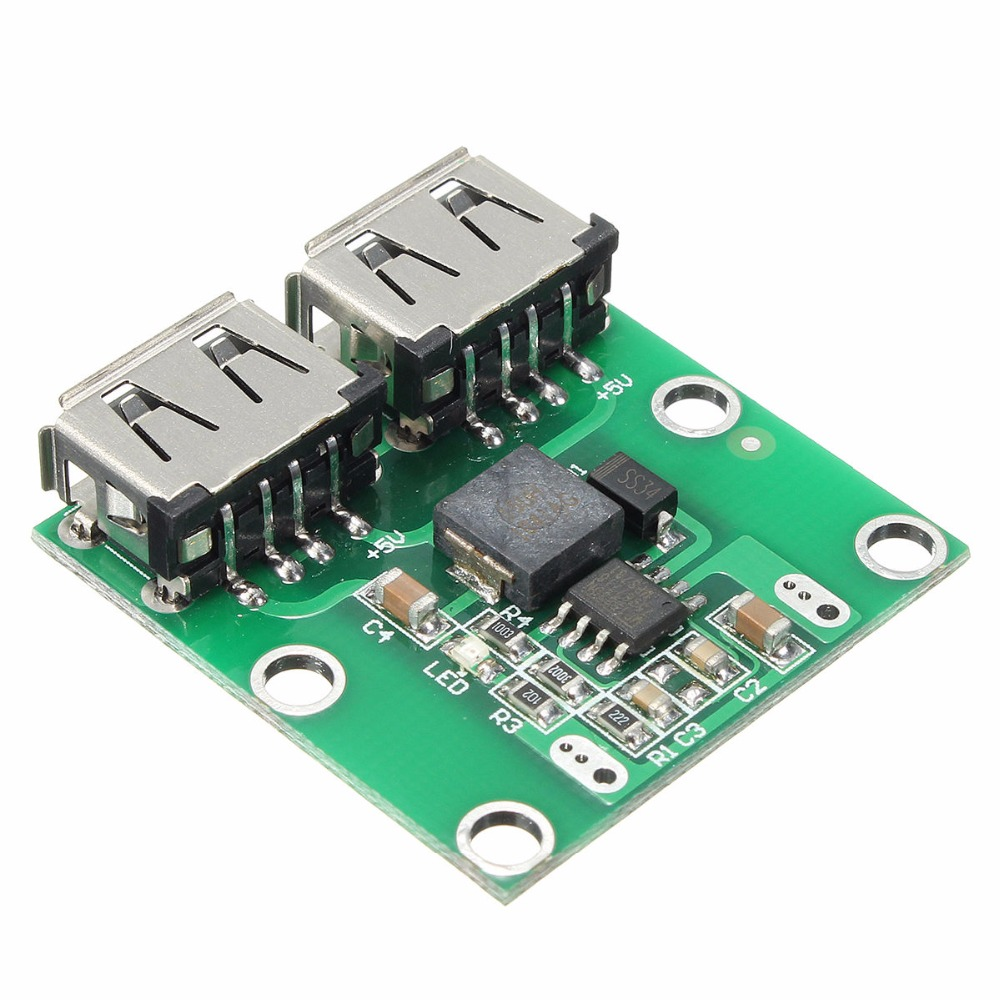 9V 12V 24V to 5V DC-DC Step Down Charger Power Module Dual USB Output Buck Voltage Board 3A Car Charge Charging Regulator 6-26V jtron dc 12v to dc 5v 3a reduction voltage module w dual usb female port black